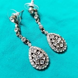 Teardrop Silver Earrings